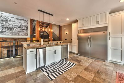 Fully Equipped Gourmet Kitchen with Viking Gas Stove and Double Ovens