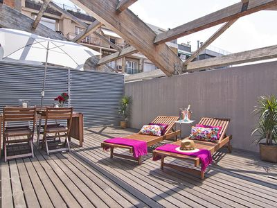 Photo for Penthouse with Private Private Terrace in Sarrià the center of Barcelona- Free Wi-Fi