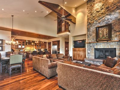 Photo for Can't Miss On Mountain Luxury Home - Views, Hot Tub, Theatre, Shuttle + More