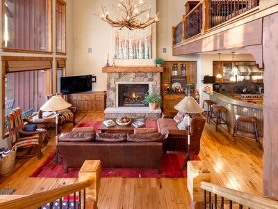 Photo for Huge Luxury 5BR Getaway w/ Private Hot Tub & Fire Pit, A/C, Garage, Pool