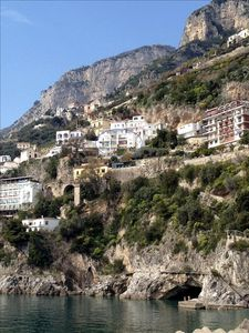 View of the apartment from Amalfi's dock