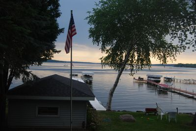 Enjoy this great view from just about any room in the cottage and from the deck.