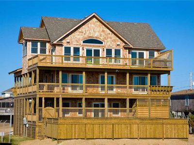 Photo for Captivating Oceanfront Views- Elevator, Pool, Hot Tub, Game & Media Rooms, Grill
