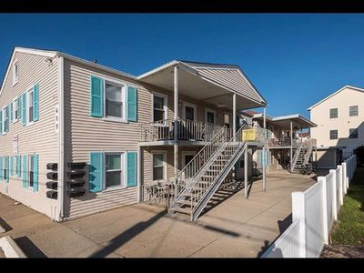 Photo for Fabulous 2 bedroom condo in the most desirable area of North Wildwood.  1 block to beach and walking distance to everything!