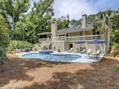 Photo for DOG FRIENDLY Five Bedroom Near Ocean UPDATED Palmetto Dunes Home w/ Pool!