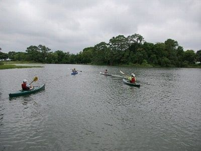 Our cove overlooks the Chesapeake. Paddle our kayaks in the cove, creek or Bay.