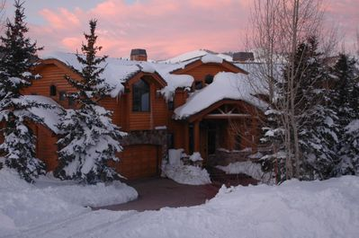 Beautiful stone and log exterior, heated drive and walkways, over 7,000 sq ft.
