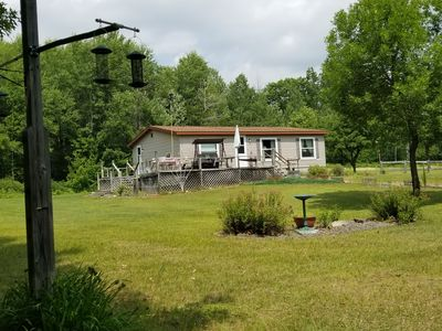 Photo for Private cabin with large yard and access to ATV, snowmobile, and horse riding.