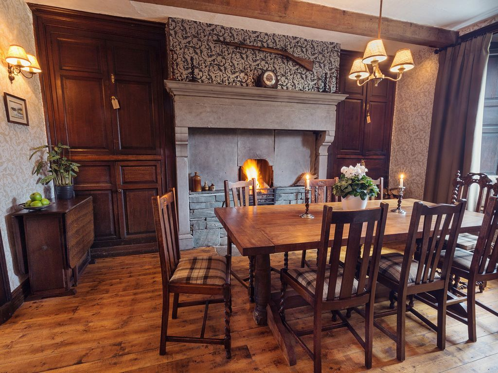 The Dining Room With Hand Made Oak Table Farmhouse