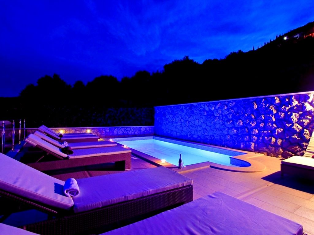 Elegant Pool At Night