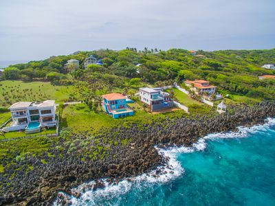 Photo for Stunning Oceanfront Villa private pool, Dramatic Views, & Constant Sea Breeze