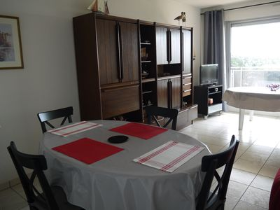 Photo for 54m2 facing the sea apartment decorated with taste, near the Casino