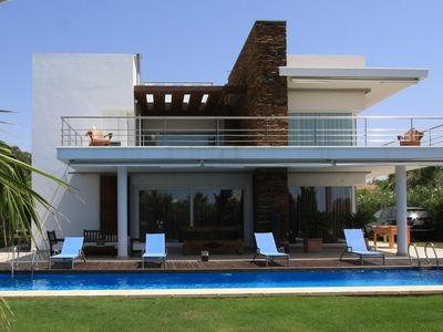 Photo for Stunning, secluded, large, modernist villa, 70m from fabulous beaches