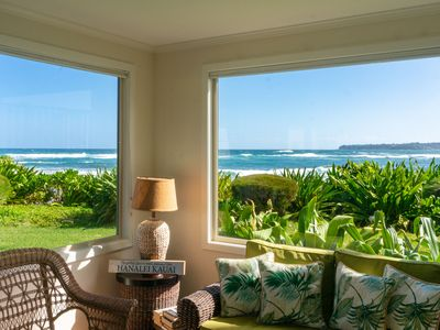 Photo for Hanalei Colony Resort I1: Romantic beachfront privacy, steps to the sand