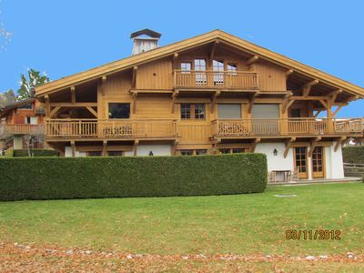 Photo for Charming apartment in beautiful chalet 5mn from the center of Megève