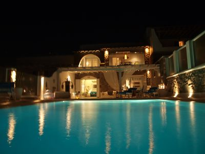 Photo for MYKONOS  SEA VIEW LUXURY VILLA-POOL WITH BREATHTAKING VIEWS AND BEST SUNSET