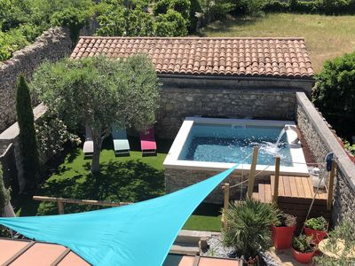 Photo for Renovated stone house in the center of the village, air conditioning and pool