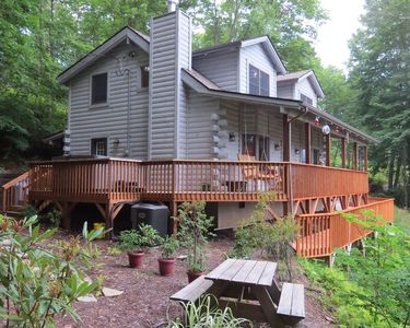 Photo for Perfect Mtn Getawawy - Private 2 BR with Loft Cabin with Hot Tub and Views