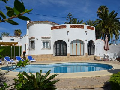 Photo for Villa with wifi, 2 bedrooms, bathroom, guest toilet, conservatory, fireplace, heating, pool