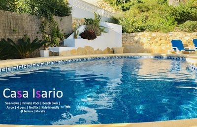 Photo for Charming villa in Moraira (MonteMar), pool + air conditioning + seaviews