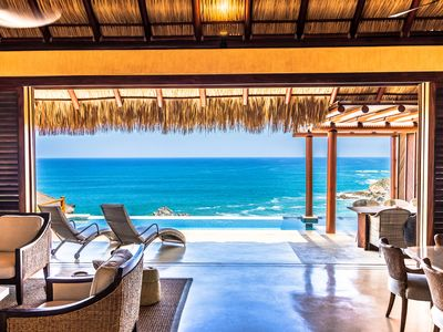 Photo for * NEW PROPERTY * Luxury Oceanfront Villa with Two Private Pools!