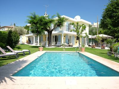 Photo for Beautiful  4 bedroom villa in Mougins with  garden, pool and 2 bed chalet