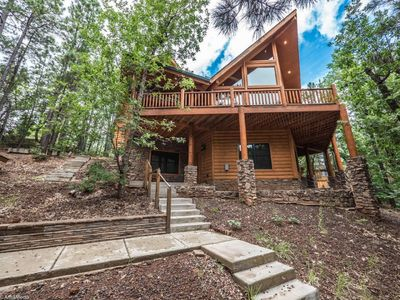Photo for Beautiful Log Cabin Nestled In The Tall Pines.