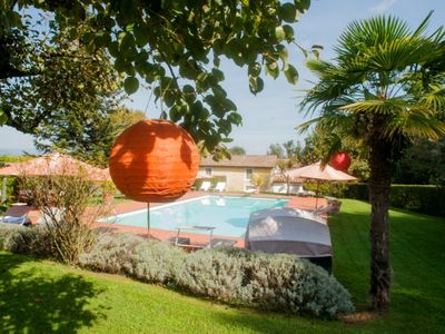 Photo for Elegant country house close to Lucca and the beaches, great foe bikers  Pool, AC, wifi, 12 pax