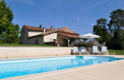 Photo for DORDOGNE, STYLISH & SPACIOUS FULLY RESTORED FARMHOUSE, LGE GARDN,10X5 POOl,WIFI