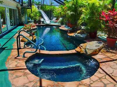 Super private tropical garden home with HomeAway Holmes Beach