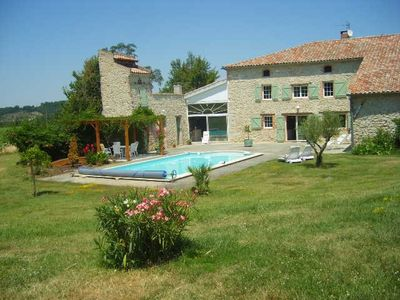 Photo for Gite 4 pers (secure heated pool) farmhouse between Albi and Toulouse