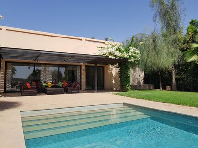 Photo for VILLA WITH SWIMMING POOL FOR GROUP ON GOLF MAADEN
