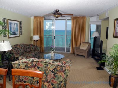 Photo for South Shore Villa Unit 1103! Stunning Oceanfront Premium Condo. Book your get away vacation today!