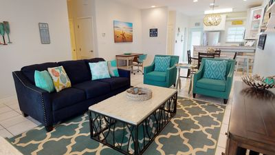 Photo for BH212: Beautiful Beach Inspired Townhome, Shared Pool, Golf Cart Accesible