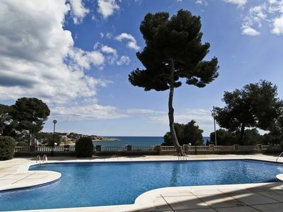 Photo for EVA VENDRELL Apartment with pool. Beach at 80m