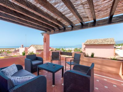 Photo for Elviria Duplex with sea views. 200 meters from the beach