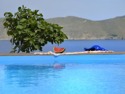 Photo for Villa PALUA Mykonos, 6 Bedrooms, Private Pool, Up to 12 Guests It is just 800m away from the beach and 5 km from Mykonos town.