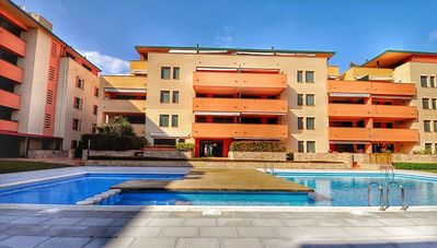 Photo for Apartment lloretholiday TOUROMAR, wifi, common swimming pool with relax area, parking, LLORETHOLIDAY
