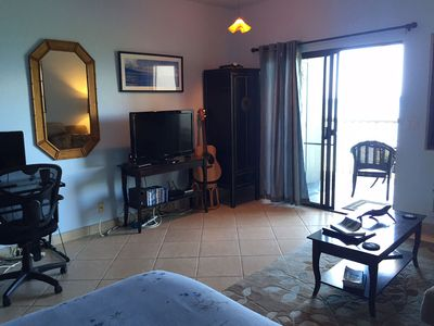 TV? Yeah, sure... but better to play guitar on the lanai or watch whales.
