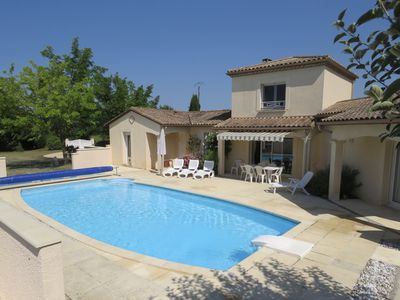 Photo for Family-friendly 4 bedroom house in quiet location, private pool and large garden
