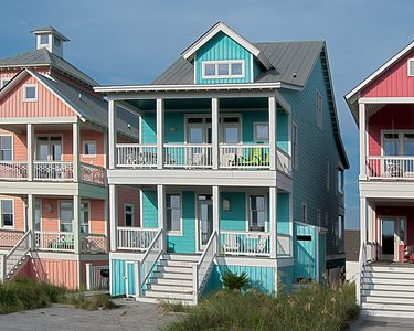 Photo for Oceanside very close to beach.   Water views in Sea Dreams with Pool in Dunes