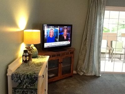 Corner  Cable TV with view to 3 - season porch Enclosed porch