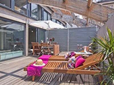 Photo for Apartment Barcelona Rentals - Duplex attic with terrace for long-term rentals