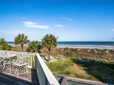 Photo for 101 Dune Lane | Amazing Oceanfront Views | Private Pool & Spa | 2 Living Rooms | Dog Friendly