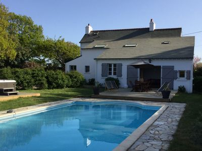 Photo for Brittany, Morbihan, charming house, Sea, 10 people - Pool, Private Spa, Nature