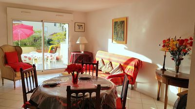 Photo for 50m from the sandy beach Péguière, beautiful apartment for 4, Wifi and swimming pool