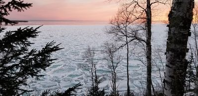 Photo for Waterfront home at cliff's edge of Lake Superior's South Shore, Sky Fire awaits.