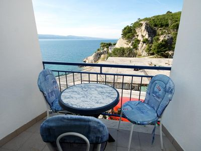 Photo for Studio flat with balcony and sea view Lokva Rogoznica (Omiš)