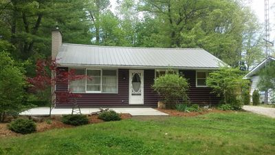 There is a nice large front and back yard. Cottage is located on a quiet street.