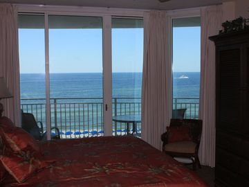 Owner Direct--1.5 BR 2 BA Oceanfront  - Living room and Master BR Gulffront